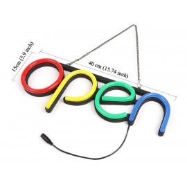LED Open Sign like NEON with 4 colors