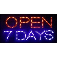 7 days Open Led Signs