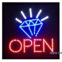 Diamond Led Open Sign