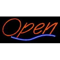 Led Open Sign with line