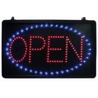 Led Open Sign With Round Border