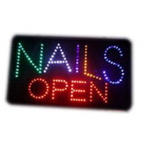 Nails  Led Open Signs