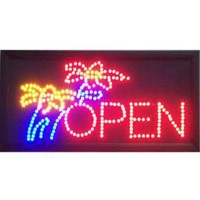 Tree Led Open Sign