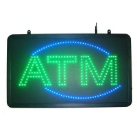 Led ATM Signs Green Color