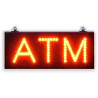 Single Red Color Led ATM Signs