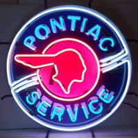 Red Indian Pontiac Service Neon Sign
