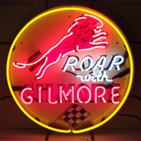 Road with Gilmore Neon Sign