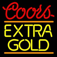 Coors Extra Gold Neon Beer Sign