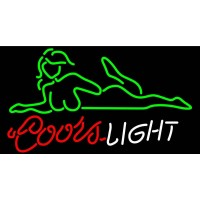 Coors Light Sexy Girl Neon Beer Sign