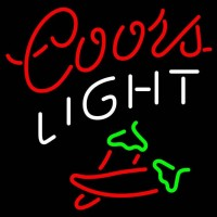 Coors Light Two Chili Pepper Neon Beer Sign