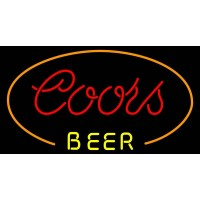 Coors Red Oval Neon Beer Sign