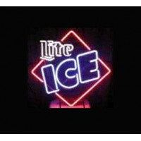 Miller Lite Ice Square Neon Sign