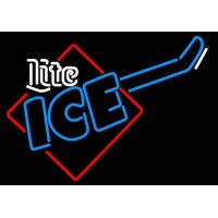 Miller Lite Ice Cube Guitar Neon Beer Sign