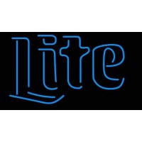Miller Lite Word Neon Beer Sign