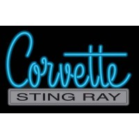 C2 Corvette Sting Ray Neon Sign