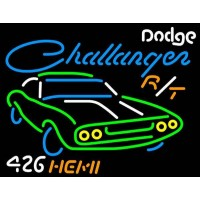 Challanger Dodge Auto NEON Sign