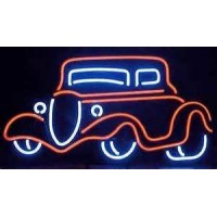 1934 red ford Auto Neon Sign