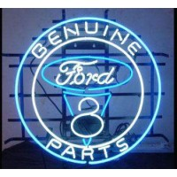 Genuine Ford V8 Parts Neon Sign