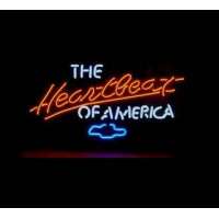 Heartbeat of America Neon Sign