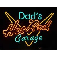 Dad's Hot Rod Garage Neon Sign