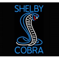 Cobra Shelby Neon Auto Sign