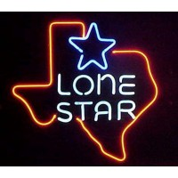 Lone Star Neon Beer Sign