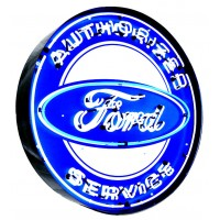 Ford Service Metal Can Neon Sign