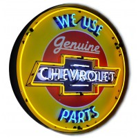 Metal Can Chevrolet Parts Neon Sign