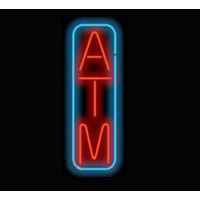 Neon ATM Signs Vertical Shape