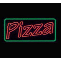 Pizza Neon Sign double Letter