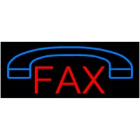 Fax Neon Sign