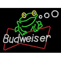 Budweiser Frog Led Beer Sign