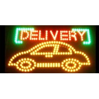 Delivery Led Car Sign
