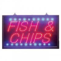Fish Chips Led Signs