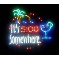 It's 5:00 somewhere Led Bar Sign