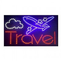 Travel Airplane Led Sign