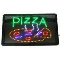 Green Color Pizza Led Sign